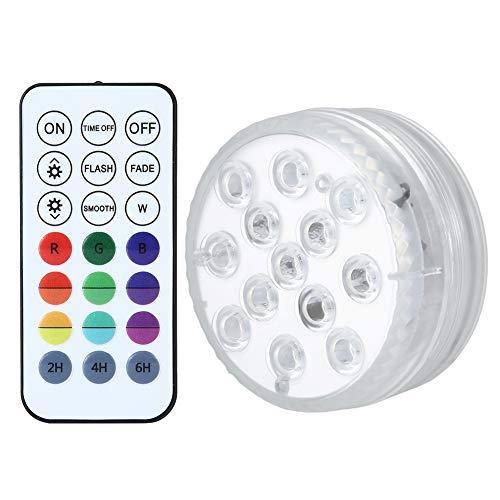 Hopcd Luces LED sumergibles, luz de Buceo con Chip 13LED con Control Remoto para Navidad/Halloween/Salas de exposiciones