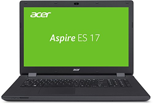 Acer Aspire ES 17 (ES1-731G-P0HB) 43,9 cm (17,3 Zoll HD+) Laptop (Intel Pentium N3710, 4GB, 500GB HDD, Intel HD Graphics, DVD, Win 10 Home) schwarz