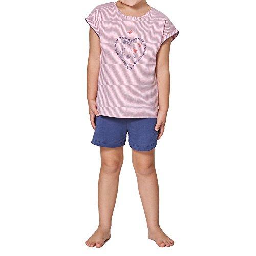 Sanetta Mädchen 232088 Zweiteiliger Schlafanzug, Rosa (Kiss 3834), 104