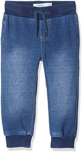 NAME IT Baby-Mädchen NBMROMEO DNMTRUEBO 2316 SWE Pant NOOS Jeans, Blau (Medium Blue Denim Medium Blue Denim), (Herstellergröße: 56)