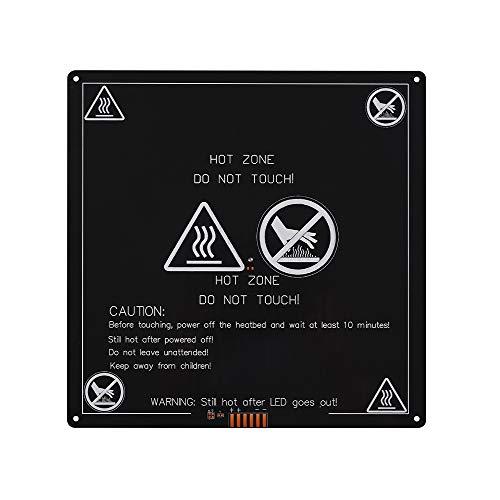 BIGTRETECH MK3 PCB Heat Bed 3D Piattaforme stampante ad alta angoli arrotondati temperatura 120 gradi 220 x 220 x 3 mm alluminio 12 V potenza riscaldato letto ultrabase anet 200 W