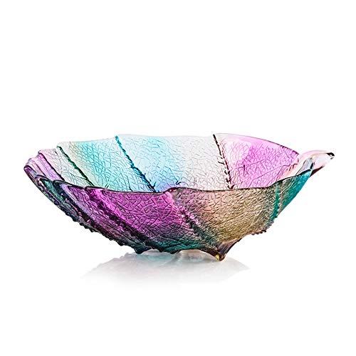 Zhao Li Fruit tray Grote Gekleurde Blad Fruit Basket-Gemakkelijk te reinigen Home Décor Decoratieve Bowl. Serviesgoed, Serveerschalen, Tableware- Diameter 13,4