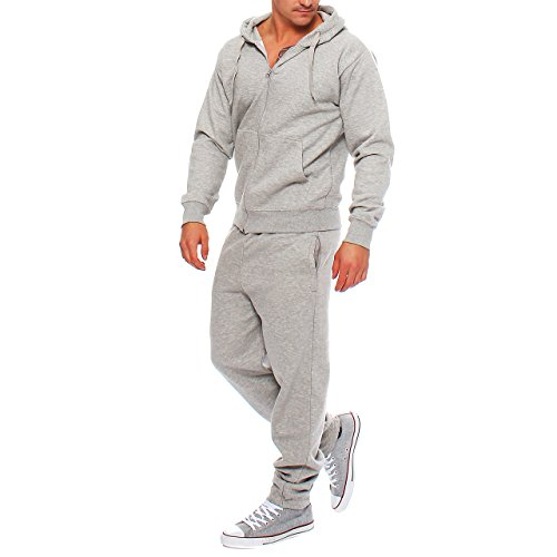 Hype Inc GE2 Herren Jogging Anzug Trainingsanzug Sweatshirt Hellgrau Gr. S