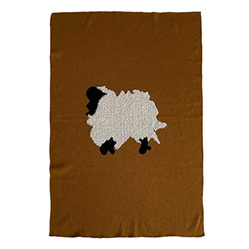 DYB Plush Fluffy Blanket,Lightweight Warm Cozy Soft Knitted Blanket Elegant Couch Cover Decorative Throws for Sofa Bed Comfortable (Color : Brown, Size : 130 * 170cm)