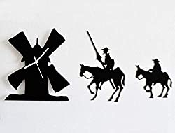 silhouette clock of Don Quixote