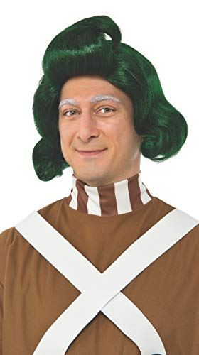 RUBIE'S COSTUME COMPANY INC Men's Willy Wonka and The Chocolate Factory Oompa Loompa Wig, As Shown, One Size