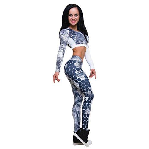 Sport Suit Damen Fitness Suit Damen Hosenanzug Damen Festlich Fitness Sport Anzug Lauf Yoga Trainingsanzug Frau Gym Kleidung Freizeit Running Suit,ABsolute (M, Blau Hose)