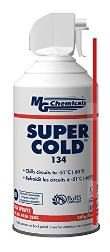 MG Chemicals 403A 134A Super Cold Spray, 285g (10 oz) Aerosol Can