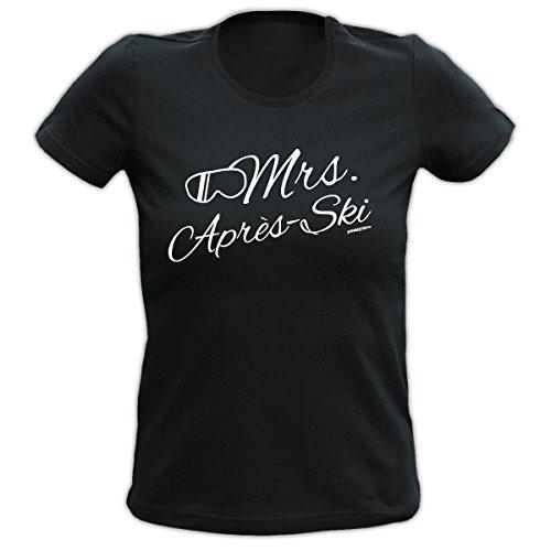 DAS Apres Ski Party T-Shirt für Damen - Mrs. Apres Ski - Cooles Partyoutfit für Ski und Snowboard!