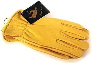 Napa Deerskin Leather Driver Gloves (Gold, Medium)