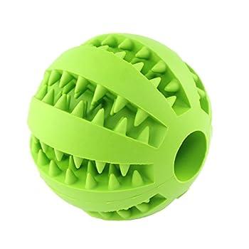 Contenu: 1 balle pour chiens. Jouet sûr et durable: fabriqué en caoutchouc durable, résistant aux morsures, rebondissant et non toxique. Permet aux chiens de renforcer leurs dents. Utilisation facile et pratique: la balle en caoutchouc rebondissan...