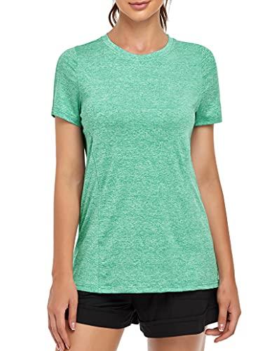 MOLERANI, Camisetas de Yoga para Mujer, Gimnasio Informal para Correr, Entrenamiento Relajado, Camiseta de...