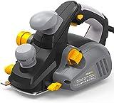 JELLAS Pialla elettrica, 850W 16,500 RPM pialletto fino a 3mm di profondità di taglio, Doppio sistema di aspirazione della polvere, Maniglia ausiliaria, Staffa, EP01-SD