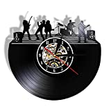 Wall art muto orologio da parete musica dal vivo studio di musica decorazione rock band palco in bianco e nero wall art