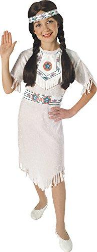 Disfraz de Princesa India Apache para niña, Talla M infantil 5-7 años (Rubie's 881053-M)