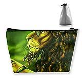 Jamaica Rasta Lion Dreadlocks - Estuche para lápices con cierre, bolsa para monedas, bolsa de maquillaje, bolsa de almacenamiento de gran capacidad para niños, escuela, niños, niñas, mujeres, regalo