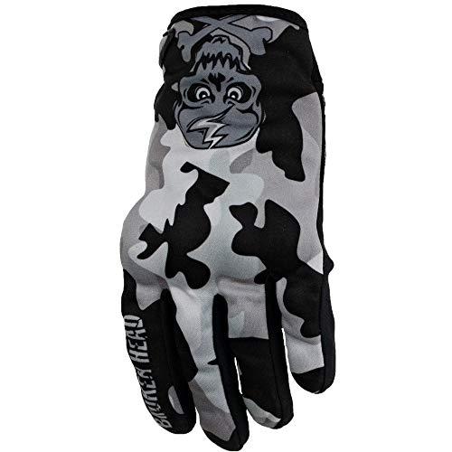 Broken Head MX-Handschuhe Rebelution - Motorrad-Handschuhe Für Motocross, Enduro, Mountainbike - Camouflage Grau (L)