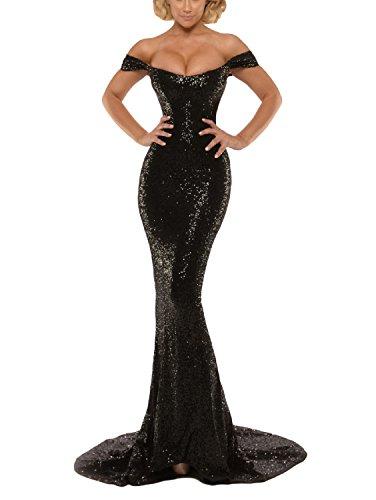 Gothic Black Off the Shoulder Mermaid Wedding Dress