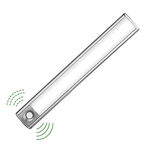 LED Schrankbeleuchtung mit Lichtsensor, 33 LED Nachtlicht mit Bewegungssensor und Helligkeitssensor, Akku-Schrankleuchte für Kleiderschrank,Flur, Treppe, Küche, Keller, Garage, Schrank, Regal etc