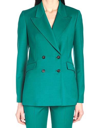 Luxury Fashion | Gabriela Hearst Dames R19GH541TEAL Groen Elasthaan Blazers | Seizoen Outlet