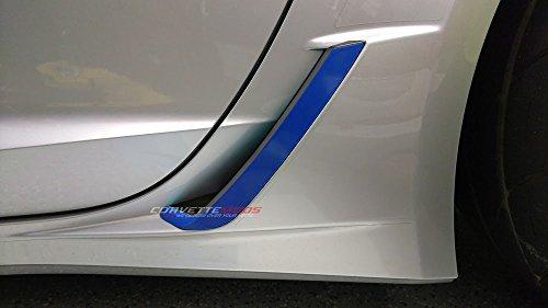 C7 Corvette Z06/Grand Sport Rear Brake Vent Duct Vinyl Overlay - Pair Matte Carbon Fiber Textured