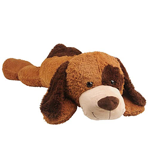 Giant Brown Dog Stuffed Animals Cute Plush Soft Toys for Children Girlfriend 58 Inch