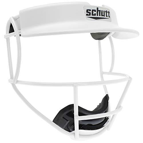 Schutt Sports V2 Softball Fielder's Guard Varsity Faceguard with Visor, White