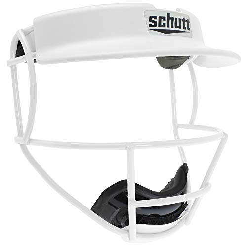 Schutt Sports V2 Softball Fielder's Guard Varsity Faceguard with Visor, White