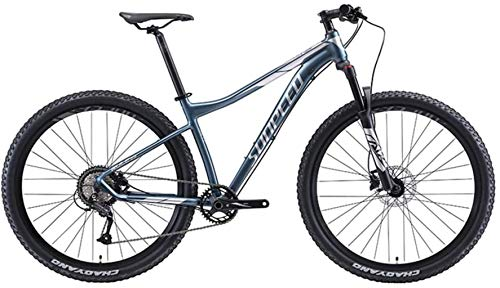 Mountain Bike for Men Women, 9-Speed Adult Big Wheels Hardtail MTB Bikes, Aluminum Frame Front Suspension Bicycle, Mountain Bicycle, Fast-Speed Comfortable Seniors Youth,Silver,17 Inch Frame