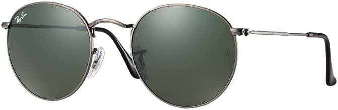 Ray-Ban Round Sunglasses RB3447 John Lennon (50 mm Gunmetal Frame Solid Black G15 Lens)