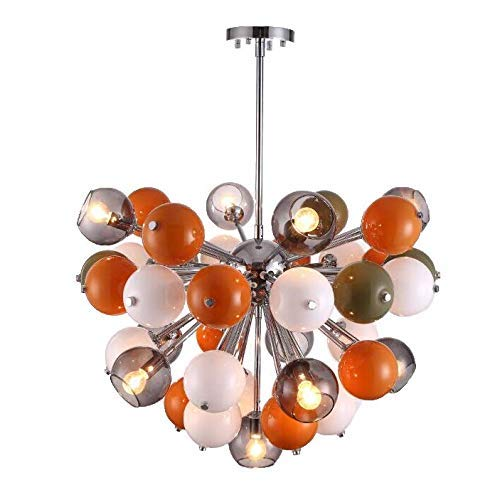 FCHMY Lámpara de araña con Forma de Burbuja de Bola de Cristal, luz Colgante de Color de Globo E27 de 10 Luces, lámpara de Techo Ajustable Moderna, iluminación Creativa de lámpara de Comedor para