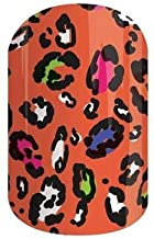 Cheetah-tastic Jamberry Nail Wraps | Orange Animal Print Nail Decal Design | Fun & Trendy Nail Art Stickers | Perfect Gift for DIY Easy Nail Art | 1 Half Sheet to do 1 Manicure & 1 Pedicure