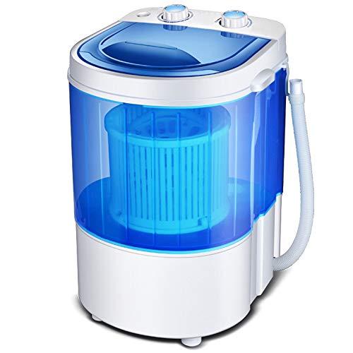 ZYFWBDZ Mini Ciclo de Centrifugado de la Lavadora portátil (Correa/Cesta), Lavadora Vortex, Capacidad Total de 3 kg, Lavadora compacta,Azul