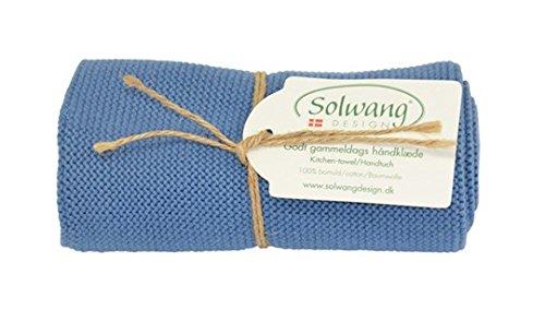 Solwang Handtuch gestrickt in Blau (H21 staubig blau)