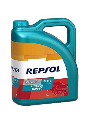 Repsol RP139Y55 Elite Inyeccion 15W-40 Aceite de Motor para Coche, 5 L