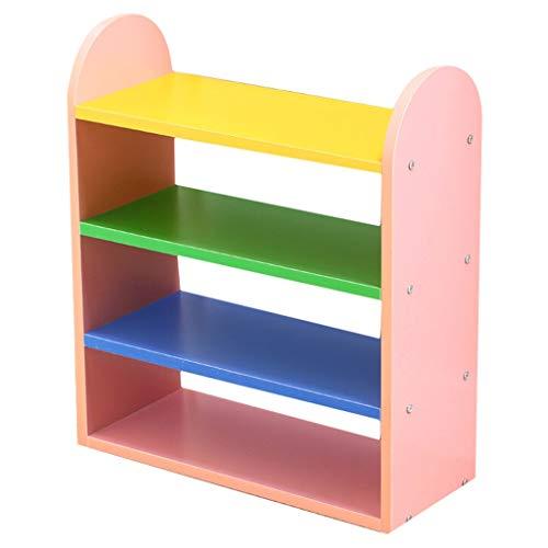 xuejuanshop Zapatero Rack de Zapatos de 4 Pisos Rack de Zapatos for niños de Colores El Estante de Almacenamiento Simple Ahorra Espacio Zapatera (Color : Pink)