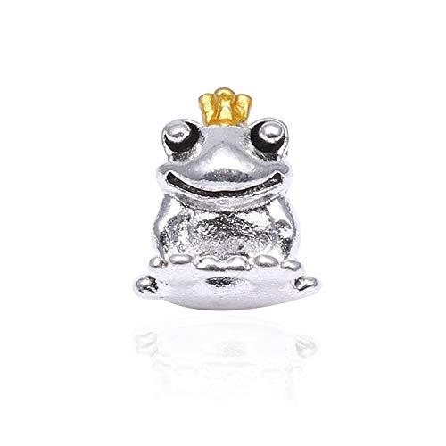 ZYYDXK 2 Teile/los Silber Überzogene Tier Frosch Charme Perlen Fit Original Brand Armband Armreif Authentische DIY Schmuck