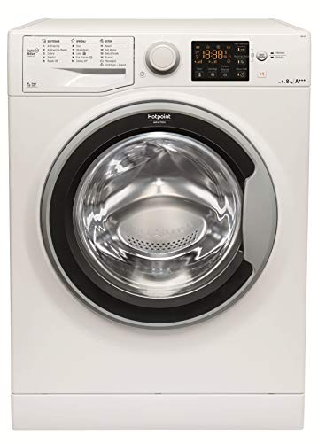 Hotpoint RSG 823 S IT Independiente Carga frontal 8kg 1200RPM A+++ Blanco - Lavadora (Independiente, Carga frontal, Blanco, Botones, Giratorio, Izquierda, De plástico)