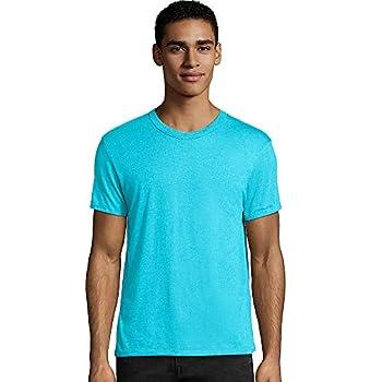 Hanes Men s Modal Triblend T-Shirt Flying Turquoise Triblend Large