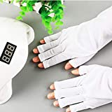 SIUSIO UV Shield Glove - UV Protective Sleeves Glove for Gel Manicures UV/LED Lamps/Nail Dryer