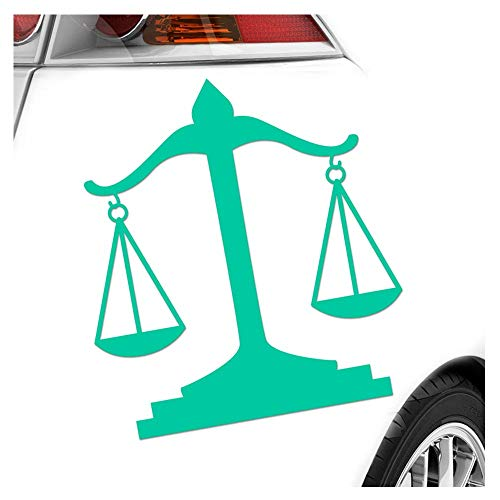 Kiwistar Balance Plat Anwalt Justice Autocollants 25 Couleurs Fluo Mat