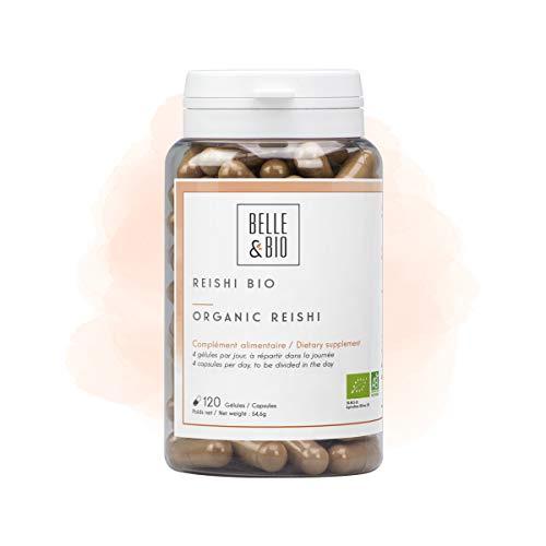 Belle&Bio - Reishi Bio - 120 gélules - 250 mg/gélule - Défenses Naturelles - Certifié Bio par Ecocert - Fabriqué en France