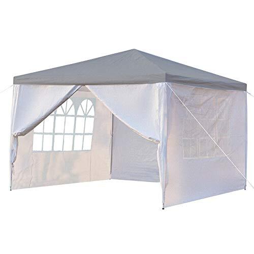 Schaduw Tent 3mx3m 4 Zijwanden Afdekken Outdoor Reizen Camping Tent Met Raam Luifel Wit/Blauw/Rood Met Reistas Of Strand Reizen Camping Tent