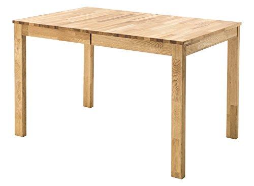 Robas Lund Esszimmertisch ausziehbar Tisch Massivholz Wildeiche, Fabian BxHxT 125-165 x 76 x 80 cm