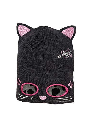 maximo Mädchen Katze mit Augen zum Umklappen Mütze, Mehrfarbig...