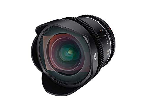 Samyang 14/3,1 Objektiv Video DSLR II Canon EF manueller Fokus Videoobjektiv 0,8 Zahnkranz Gear, Weitwinkelobjektiv schwarz