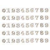 Artibetter 100 Pezzi in Legno Numeri da 0 a 9 abbellimenti per Decorazioni Artigianali Fai da Te Display da 15 mm