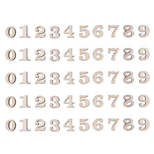 numeri per orologio Artibetter 100 Pezzi in Legno Numeri da 0 a 9 abbellimenti per Decorazioni Artigianali Fai da Te Display da 15 mm