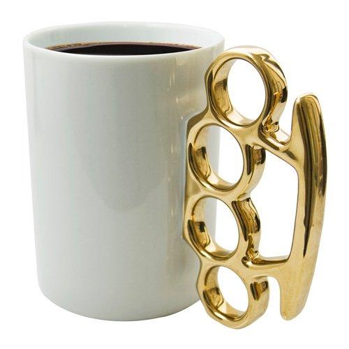 THABTO Schlagring-Kaffeebecher in Gold und Weiß