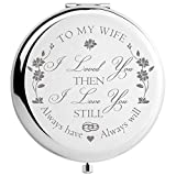 Wife Gifts from Husband Birthday Anniversary, for Wife, Romantic Presents for Valentines Day Christmas, Engraved Makeup Mirror (My Wife)